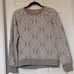 J Crew damask print sweatshirt